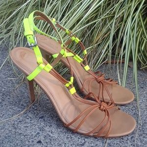 Coach heeled strappy sandals sz 11B